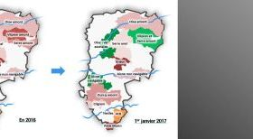 Evolution territoriale des syndicats de rivières dans l'Aisne