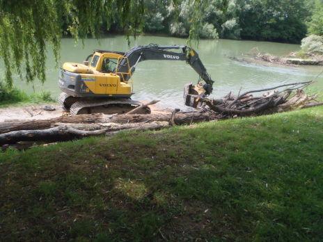Désembâclement de la rivière Aisne : programme 2 - tranche 1 - Terminé