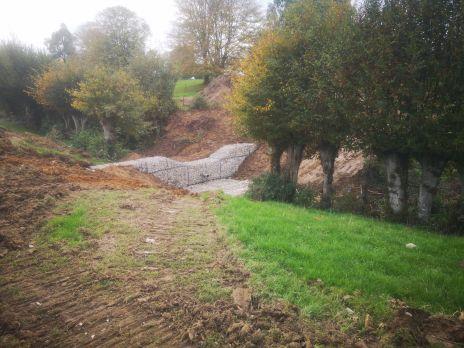 Travaux de maîtrise du ruissellement et de l'érosion sur la commune de Lavaqueresse
