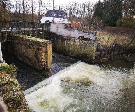 Arasement du seuil de l'ancien moulin de Chaourse